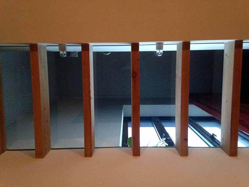 Pglas - Glazen vloer met helder gelaagd glas 003