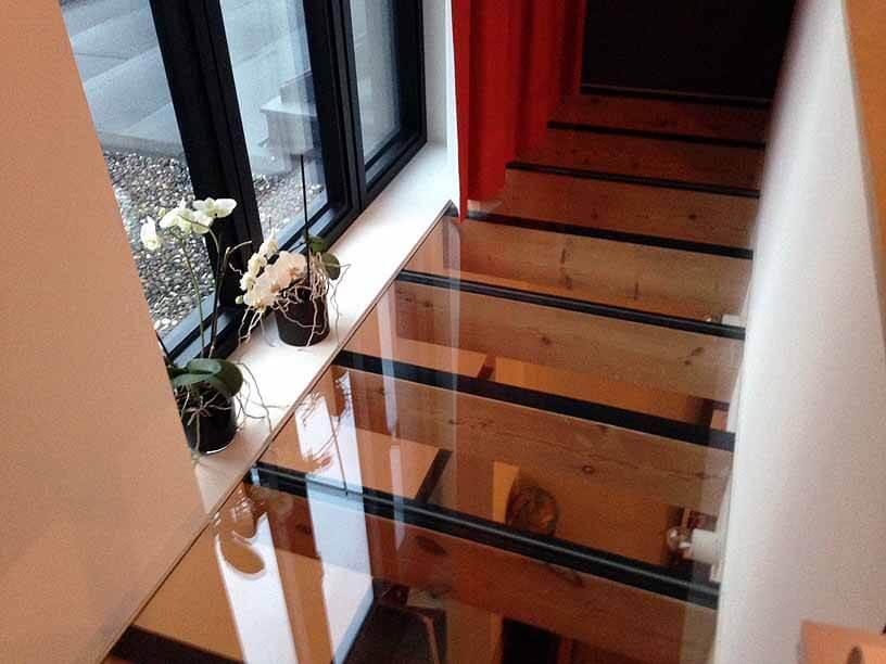 Pglas - Glazen vloer met helder gelaagd glas 004