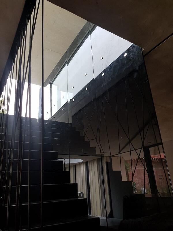 Pglas - glazen balustrade met glasbouten 006