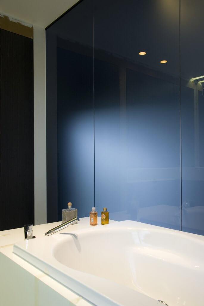Pglas - Glazen wand dark grey 004