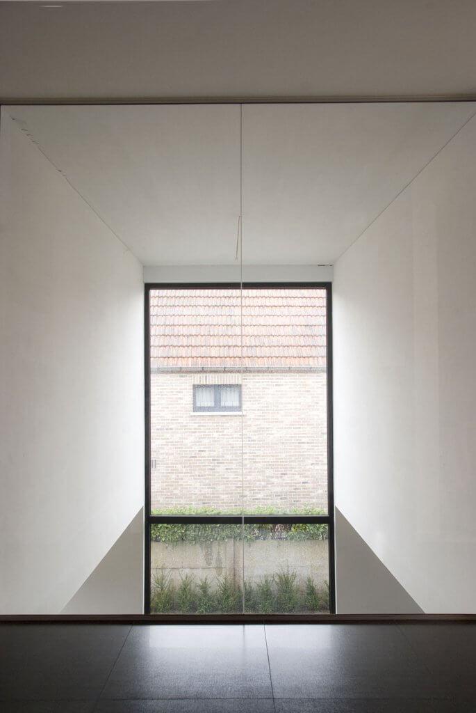 Pglas - Glazen wand in helder glas plafondhoog 003