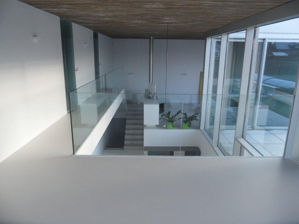 Pglas - Glazen balustrade trapleuning stalen glasklem helder glas 010