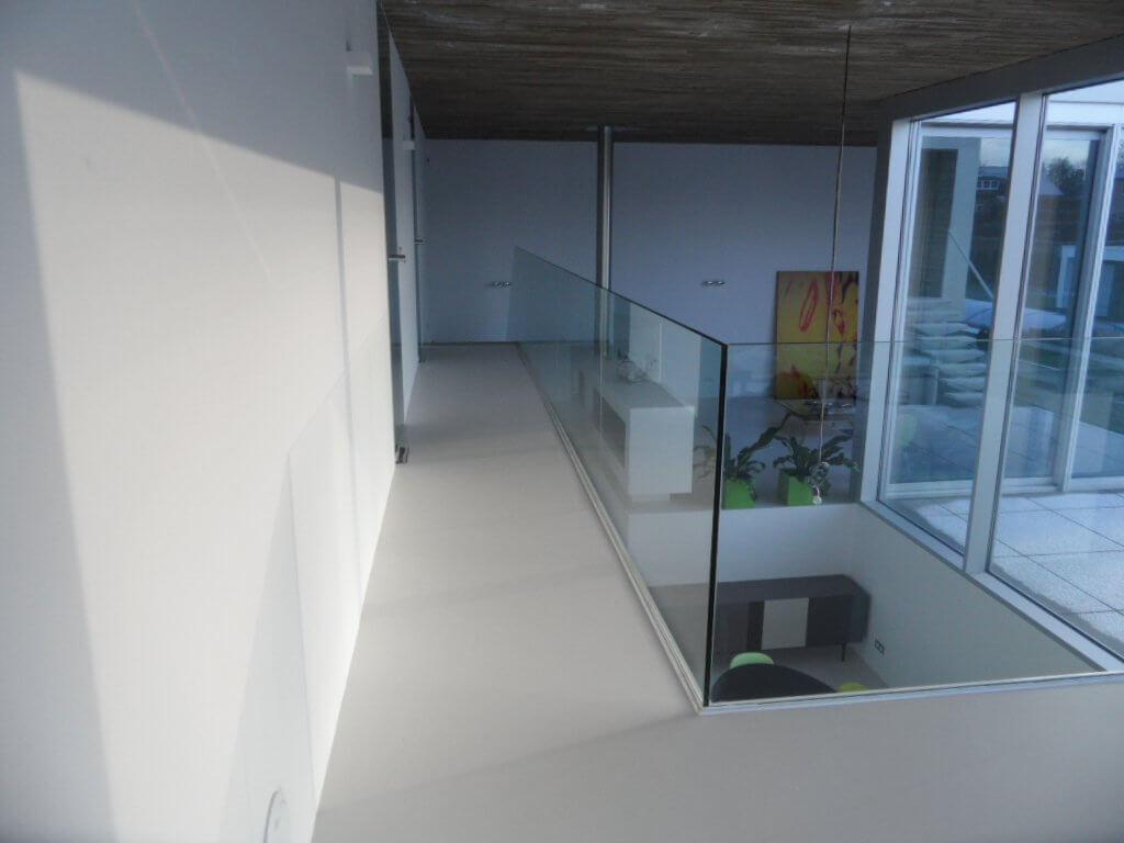 Pglas - Glazen balustrade trapleuning stalen glasklem helder glas 011