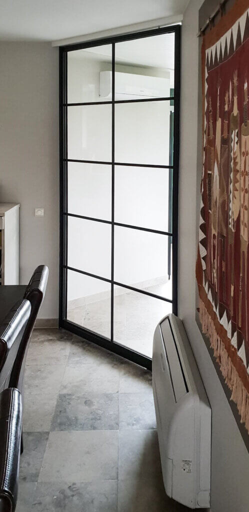 Stalen deur onderverdeling 10 glasvakken