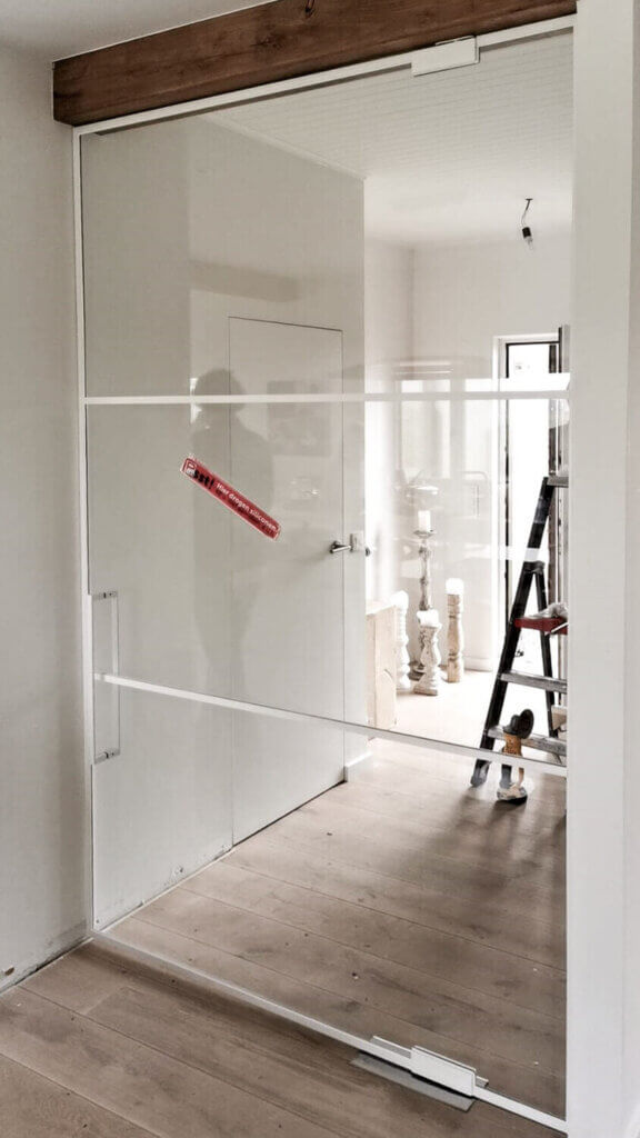 Steellook deur wit vloerveer cosmic 300