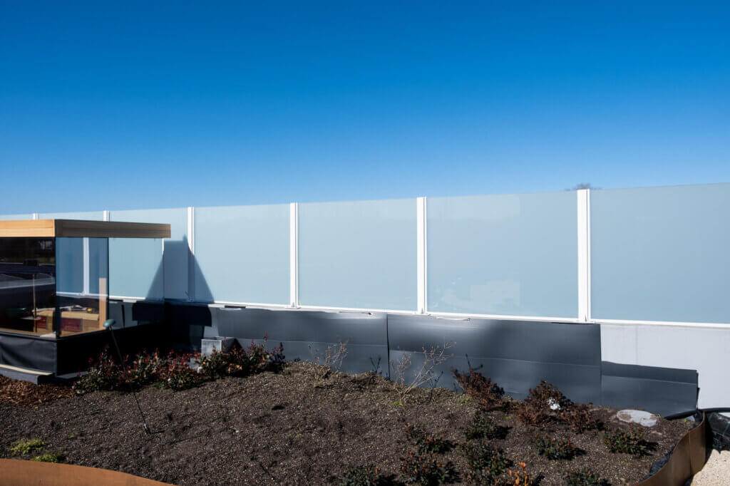 windscherm opaal glas