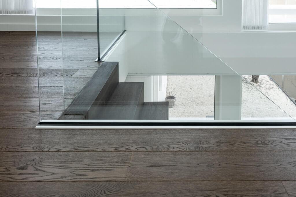 Balustrade in glasklem helder glas