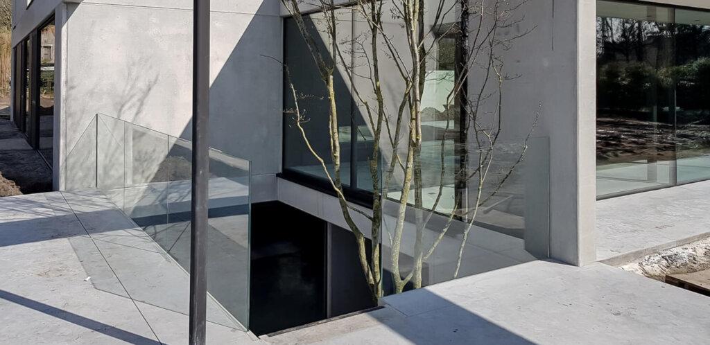 glazen balustrade bestaande glasklem