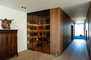 Steel look deur geheel wijnkast ozone cosmic 1000mm