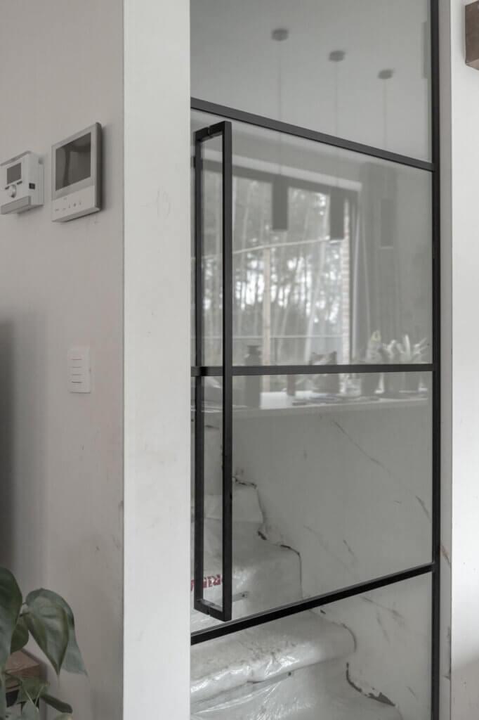 Steel look deur ozone cosmic 1000 horizontale indeling